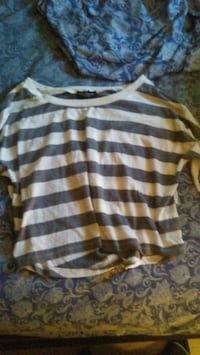 white and gray striped tank top Cambridge, N3H 1S3
