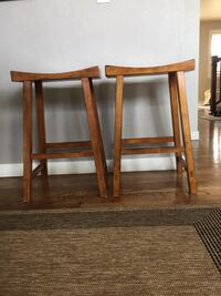 Solid wood bar stools. 40 for both. Arvada, 80005