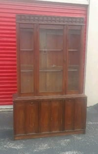 China cabinet display case mahogany wood 49 km