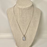 Sterling Silver Mother of Pearl Pendant with Sterling Rope Chain Ashburn