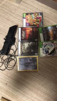 Black xbox 360 kinect with miscellaneous games Yorktown, 23690
