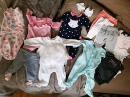 Clothing for baby girl 0 to 3 months
