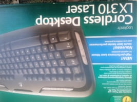 Cordless Desktop keyboard with cordless mouse with box