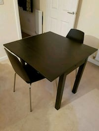 rectangular brown wooden table with two chairs Greater London, E15 4HE
