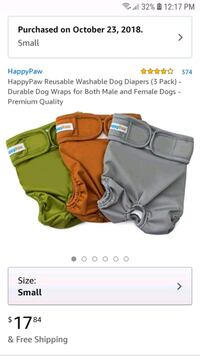 Disposable Diapers / Small Dogs Sandy Creek, 13145