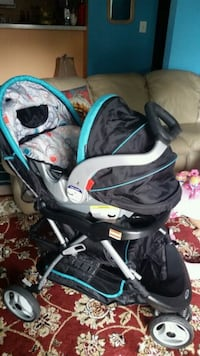 baby's black and blue stroller Sterling, 20166