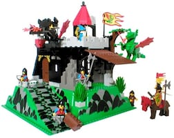 Vintage Lego set Fire Breathing Fortress (6082) Castle Dragon Knights