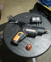 orange and balck worx hand tool