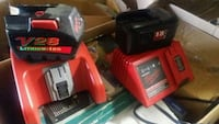 V28 Milwaukee Battery with charger. $75 Caledonia, 53108