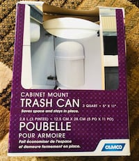 White trash can  never used in box from a pet and smoke free home for only 12$ Vaughan, L6A 3A5