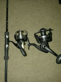 black and gray fishing reel Gregory, 78359