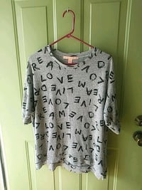 gray letter print crew-neck t-shirt Conway, 29526