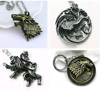 *New* Game of Thrones Metal Alloy Keychain Key  Lillestrøm, 2000