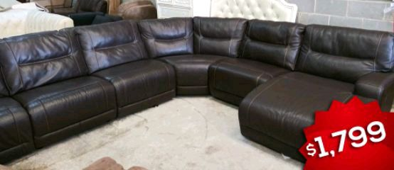 used caruso 6pc italian leather sectional sosofaw sofa for sale in rh gb letgo com