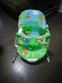 baby's green and white Fisher-Price bouncer Alexandria, 22305