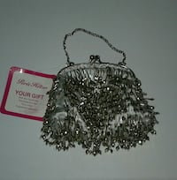 Brand New PARIS HILTON small fancy silver handbag