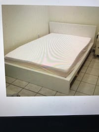 Deliver Full IKEA White thick Wood Frame Bed! Annandale