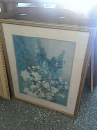 white and blue petaled flowers painting Cape Coral, 33914