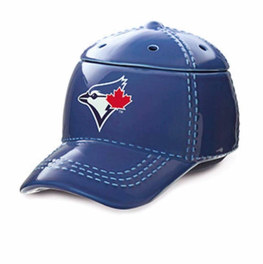 blue ceramic Toronto Bluejays fitted cap shaped jar