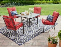 Mainstays Forest Hills 5-Piece Dining Set, Red Houston, 77042
