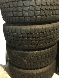 four black auto tire set