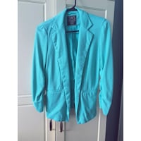 Teal coloured 3/4 sleeved blazer, size small  Ottawa, K1Y