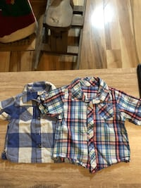 Boy's short sleeved dress shirts