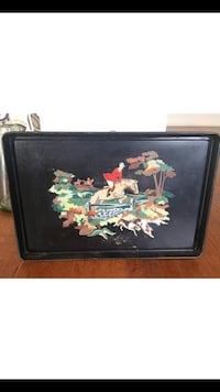 1950's Paint by Numbers Equestrian Metal Tray Los Angeles, 90019
