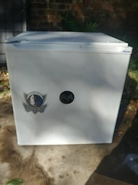 white Haier compact refrigerator