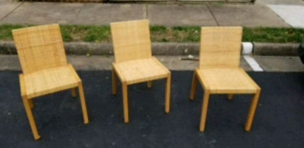 Three wicker chairs need to go!