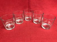 """5- 12oz Clear Water Drinking Beverage Beer Glasses Low Ball Tumblers 3 7/8"""" tall Las Vegas, 89131"""
