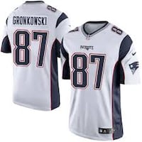 gronk womens white large stitched new Thornton