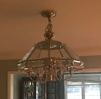 Brass and glass chandelier Shelton, 06484