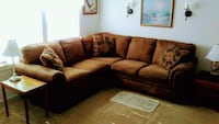 brown and black sectional couch Little River, 29566