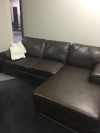 black leather sectional sofa with ottoman Mississauga, L4Z 2E2