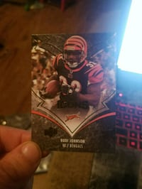 black and red football player trading card Bristol, 24201