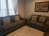 Blue fabric sofa and loveseat Allen, 75013