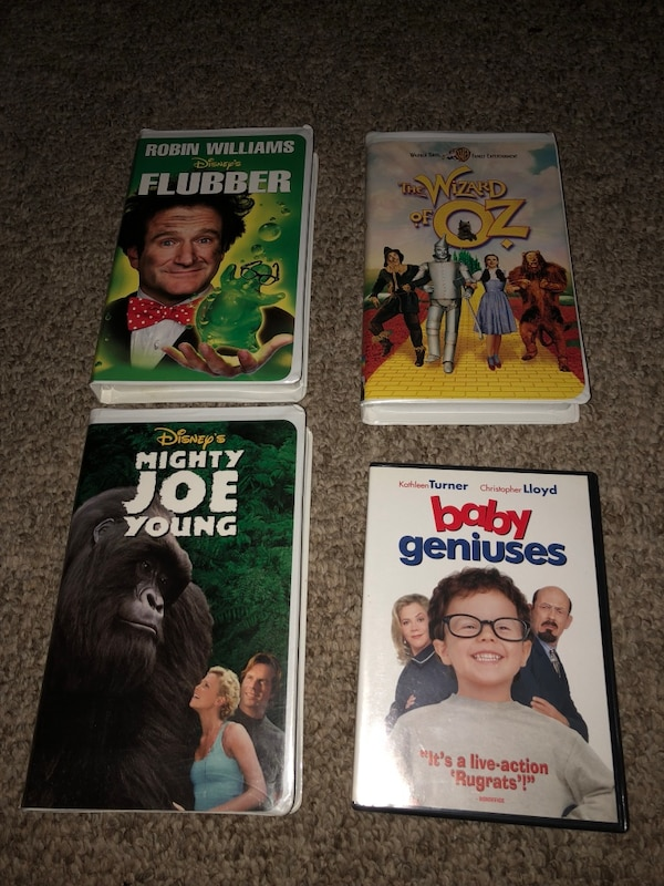 several assorted VHS cases