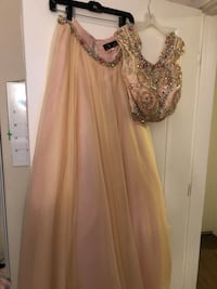 Beige Bejeweled Two piece prom dress  Laurel, 20707