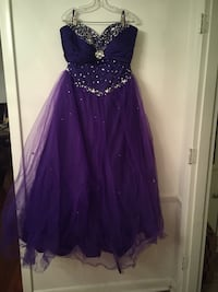 Women's purple and silver gown