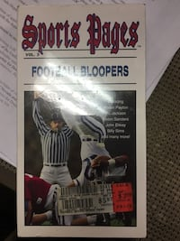 Sports Pages TV bloopers VHS