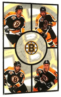BOSTON BRUINS 1998 NHL POSTER THORNTON, BOURQUE Toronto