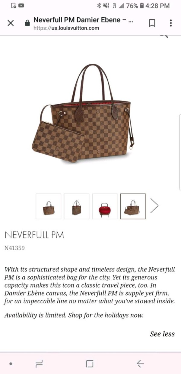 Used Louis Vuitton Neverfull PM for sale in Fort Lauderdale - letgo f8d488e2ffc5c
