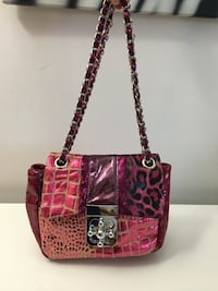 Pink leather tote bag 785 km