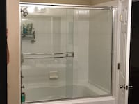 Glass shower doors and frame