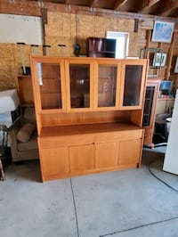 Display teak hutch