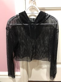 black fish net sweater