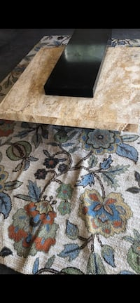 Rugs and coffee table