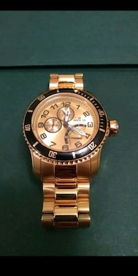 round gold invicta analog watch with link bracelet Tampa, 33619