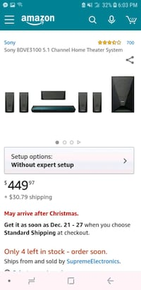 Sony surround sound home theater  Fort Myers, 33901